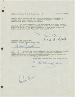 VANESSA BROWN - DOCUMENT DOUBLE SIGNED 06/26/1947