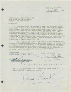 DANE CLARK - DOCUMENT DOUBLE SIGNED 07/25/1947