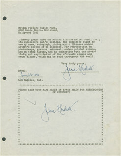 JEAN HERSHOLT - DOCUMENT DOUBLE SIGNED 07/23/1946