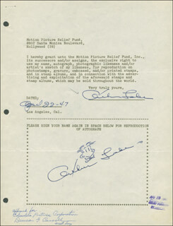 ARTHUR LAKE - DOCUMENT DOUBLE SIGNED 07/22/1946
