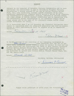 ELLEN DREW - DOCUMENT DOUBLE SIGNED 02/27/1947