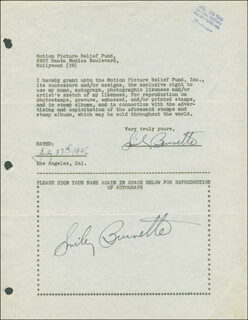 SMILEY (LESTER) BURNETTE - DOCUMENT SIGNED 07/27/1946