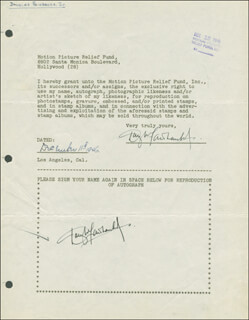 DOUGLAS FAIRBANKS JR. - DOCUMENT DOUBLE SIGNED 12/11/1946
