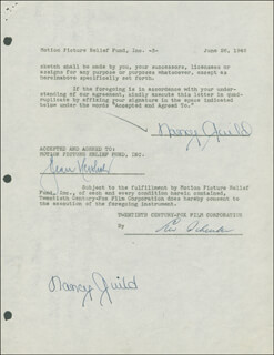 NANCY GUILD - DOCUMENT DOUBLE SIGNED 06/26/1946