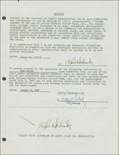JOHN HODIAK - DOCUMENT DOUBLE SIGNED 08/17/1946