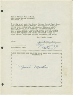 JANET MARTIN - DOCUMENT DOUBLE SIGNED