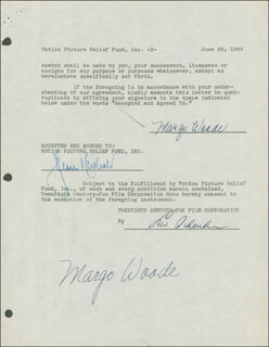 MARGO WOODE - DOCUMENT DOUBLE SIGNED 06/26/1946