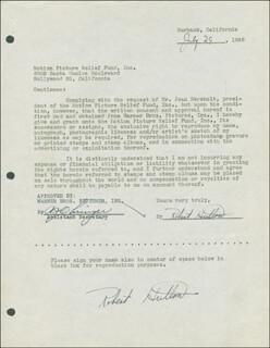 ROBERT HUTTON - DOCUMENT DOUBLE SIGNED 07/29/1946
