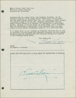 CHARLES KORVIN - DOCUMENT DOUBLE SIGNED