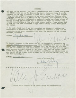 VAN JOHNSON - DOCUMENT DOUBLE SIGNED 08/19/1946
