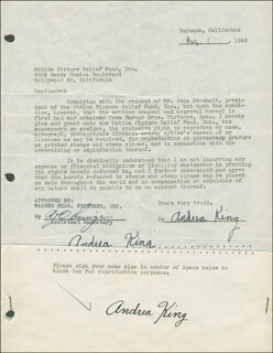 ANDREA KING - DOCUMENT DOUBLE SIGNED 08/01/1946