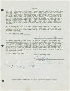 AUDREY TOTTER - DOCUMENT DOUBLE SIGNED 08/27/1946