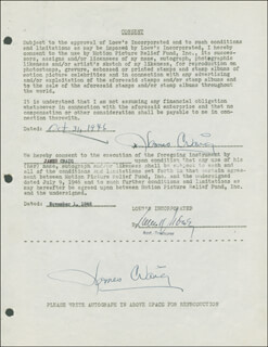 JAMES CRAIG - DOCUMENT DOUBLE SIGNED 10/31/1946