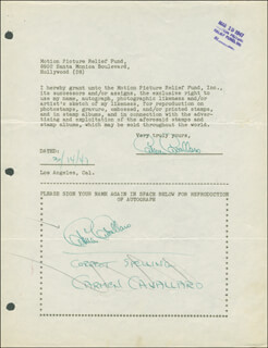 CARMEN CAVALLARO - DOCUMENT MULTI-SIGNED 03/14/1947