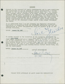 JOSE ITURBI - DOCUMENT SIGNED 01/20/1947