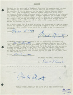 CHARLES DURANGO STARRETT - DOCUMENT DOUBLE SIGNED 03/06/1947