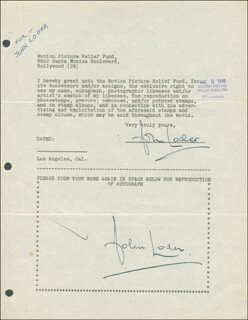 Autographs: JOHN LODER - DOCUMENT DOUBLE SIGNED 08/22/1946