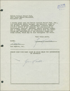 JOAN LESLIE - DOCUMENT DOUBLE SIGNED 08/09/1946