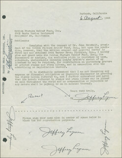 JEFFREY LYNN - DOCUMENT MULTI-SIGNED 08/06/1946