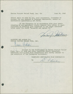 VICTOR MATURE - DOCUMENT SIGNED 06/26/1946