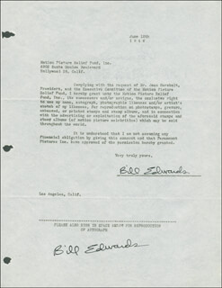 BILL EDWARDS - DOCUMENT SIGNED