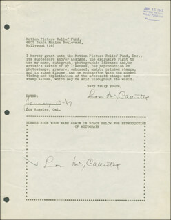 LON McCALLISTER - DOCUMENT DOUBLE SIGNED 01/10/1947