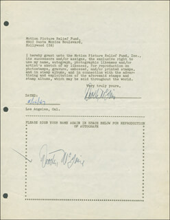 DOROTHY McGUIRE - DOCUMENT DOUBLE SIGNED 05/14/1947