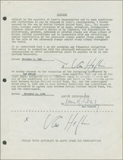 VAN HEFLIN - DOCUMENT DOUBLE SIGNED 11/09/1946