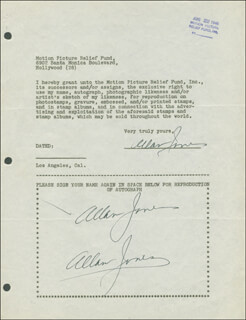 ALLAN JONES - DOCUMENT MULTI-SIGNED 08/22/1946
