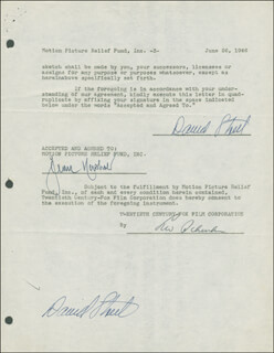 DAVID STREET - DOCUMENT DOUBLE SIGNED 06/26/1946
