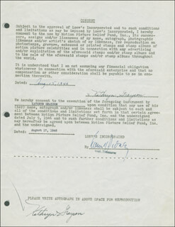 KATHRYN GRAYSON - DOCUMENT DOUBLE SIGNED 08/15/1946
