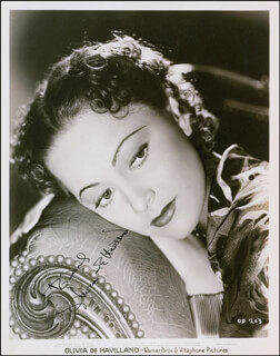 OLIVIA DE HAVILLAND - AUTOGRAPHED INSCRIBED PHOTOGRAPH CIRCA 1936