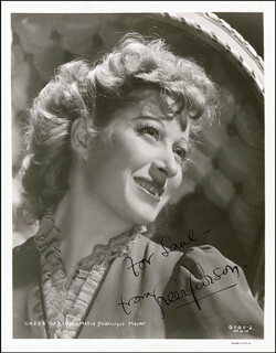 GREER GARSON - AUTOGRAPHED INSCRIBED PHOTOGRAPH CIRCA 1940