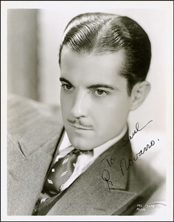 RAMON NOVARRO - AUTOGRAPHED INSCRIBED PHOTOGRAPH CIRCA 1935
