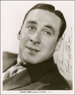 GEORGE O'BRIEN - AUTOGRAPHED INSCRIBED PHOTOGRAPH CIRCA 1934