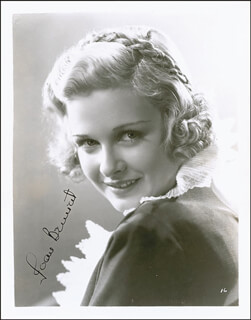 JOAN BENNETT - AUTOGRAPHED SIGNED PHOTOGRAPH CIRCA 1935