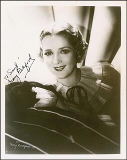 MARY PICKFORD - AUTOGRAPHED INSCRIBED PHOTOGRAPH CIRCA 1936