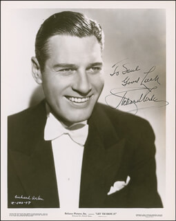 Autographs: RICHARD ARLEN - INSCRIBED PHOTOGRAPH SIGNED CIRCA 1936