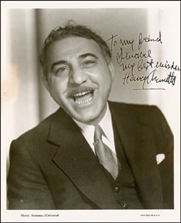 HENRY ARMETTA - AUTOGRAPHED INSCRIBED PHOTOGRAPH CIRCA 1935