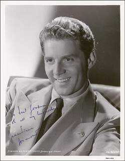 Autographs: JEAN-PIERRE AUMONT - INSCRIBED PHOTOGRAPH SIGNED CIRCA 1943