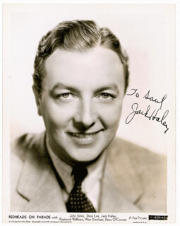 JACK HALEY SR. - AUTOGRAPHED INSCRIBED PHOTOGRAPH CIRCA 1939