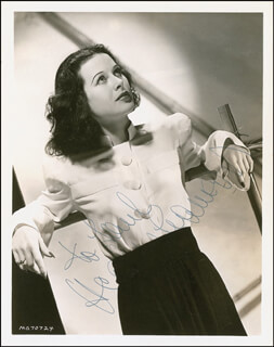 HEDY LAMARR - AUTOGRAPHED INSCRIBED PHOTOGRAPH
