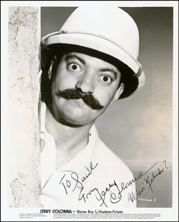 JERRY COLONNA - AUTOGRAPHED INSCRIBED PHOTOGRAPH CIRCA 1940