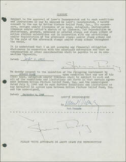 SPENCER TRACY - DOCUMENT DOUBLE SIGNED 09/04/1946