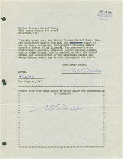 W. C. FIELDS - DOCUMENT DOUBLE SIGNED 09/12/1946