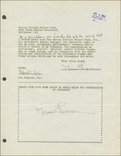 NORMA SHEARER - DOCUMENT DOUBLE SIGNED 04/01/1947