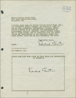 EDDIE CANTOR - DOCUMENT DOUBLE SIGNED 07/24/1947