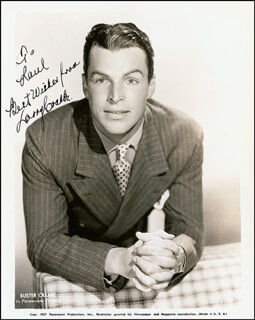 BUSTER CRABBE - AUTOGRAPHED INSCRIBED PHOTOGRAPH CIRCA 1938