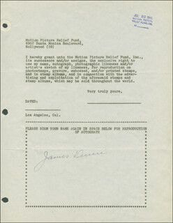 JAMES DUNN - DOCUMENT SIGNED 07/23/1946