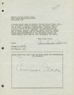 CONSTANCE MOORE - DOCUMENT DOUBLE SIGNED 08/01/1946